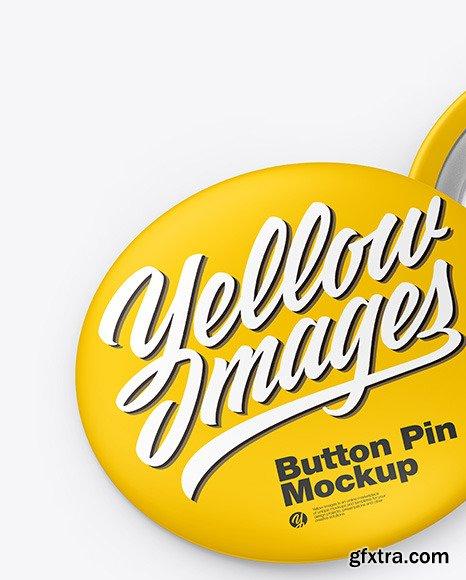 Two Matte Button Pins Mockup 67499