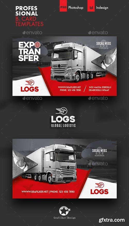 GraphicRiver - Logistics Business Card Templates 28139253