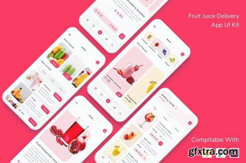 Fruit Juice Delivery App UI Kit