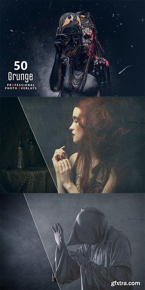 50 Grunge Photo Overlays
