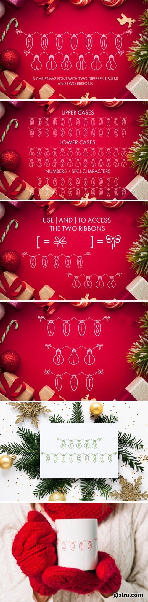 Holiday Lights Font