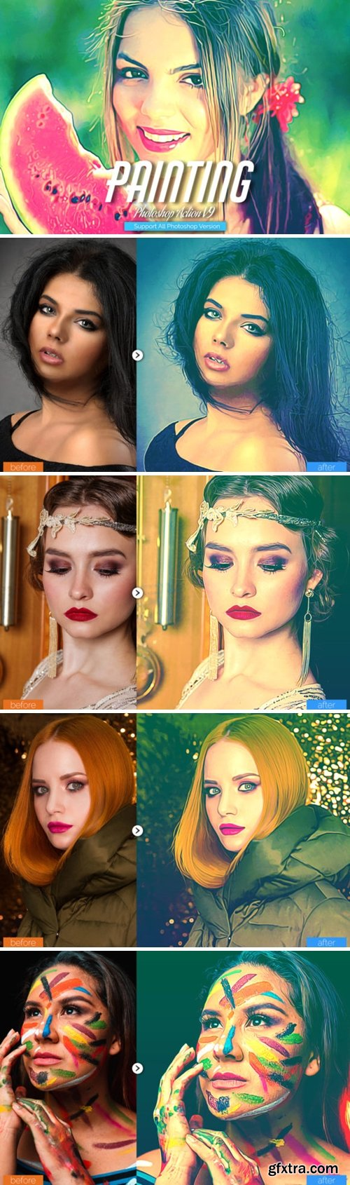 Painting Photoshop Action V9 5732711