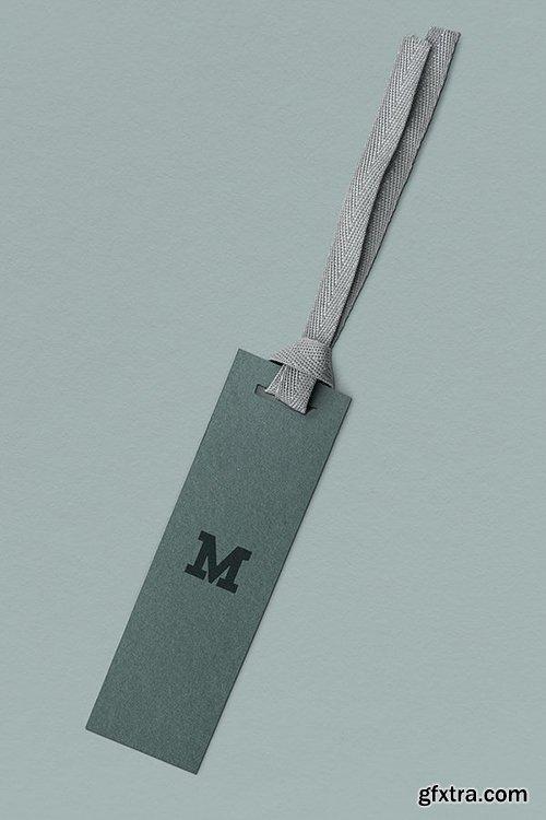 Gray M design label mockup 1202103