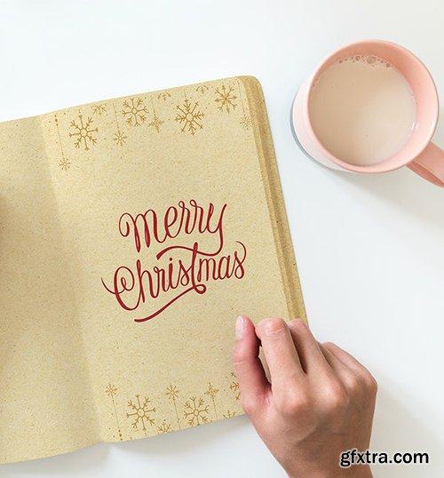 Christmas holiday greeting design mockup 516409