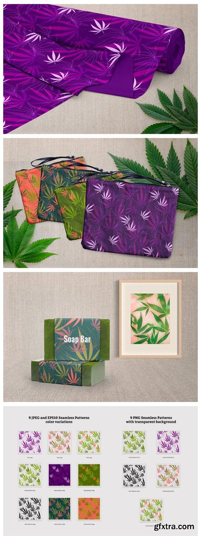 Hemp - Botanical Seamless Pattern 5728091