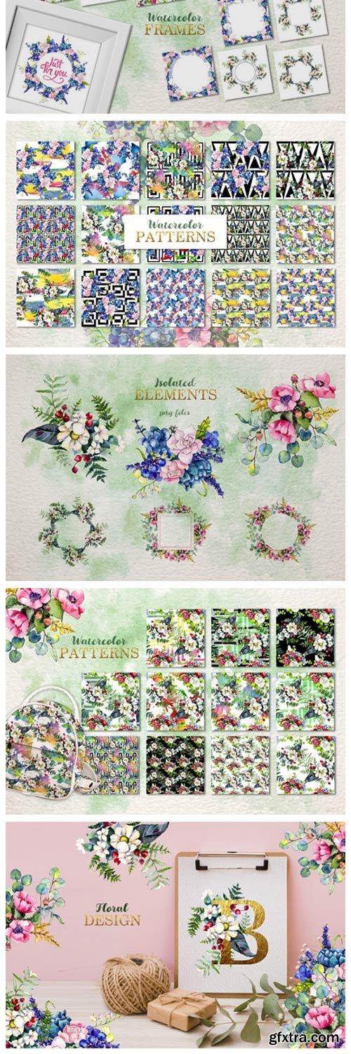 Gorgeous Flower Bouquets Watercolor Png 4753532