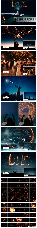 50 Happy Realistic Sparkle Overlays 5734282