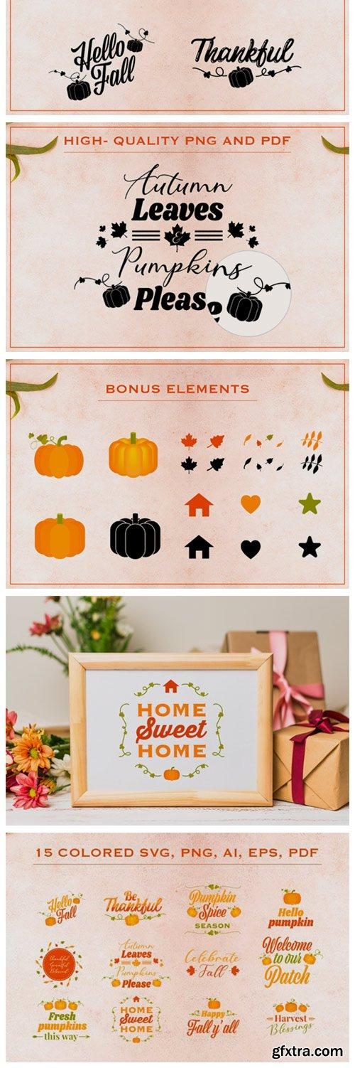 Fall SVG Bundle with Bonus Elements 5556152
