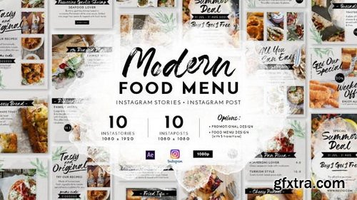 Videohive - Modern Food Menu Instagram Stories - 28331308