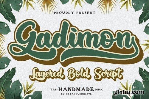 Gadimon Layered Script Font