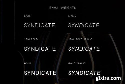 ENMA- Rounded Font
