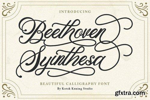 Beethoven Syintesa - Calligraphy Font