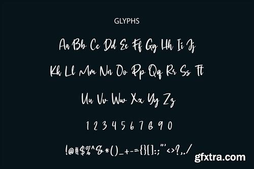 Gastya Brush Font