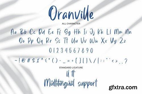 Oranville-Classy Handwritten Font