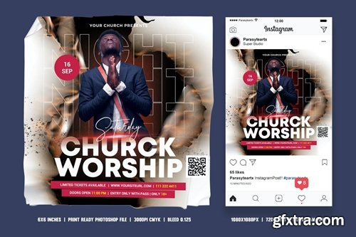 Church Square Flyer & Instagram Post