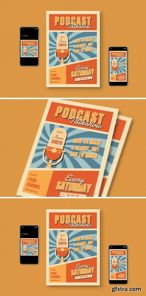 Weekly Podcast Flyer Pack