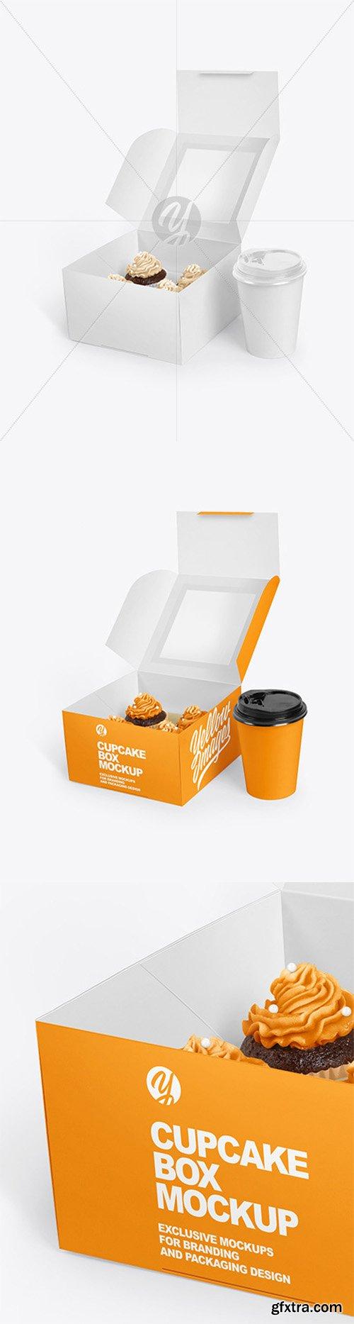 Box w/ Cupcake Mockup 66131