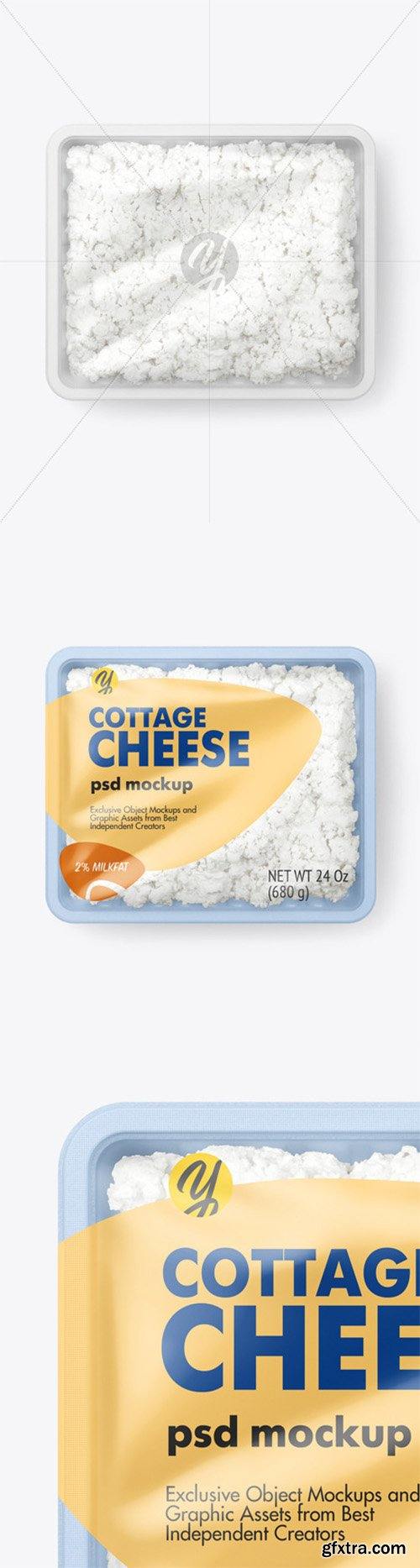Plastic Tray With Cottage Cheese Mockup 66087