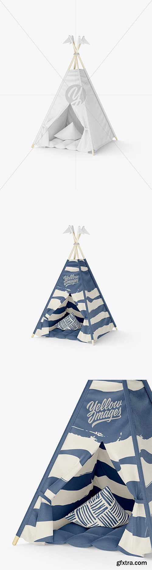 Kids Teepee Tent with Mat Mockup 66106