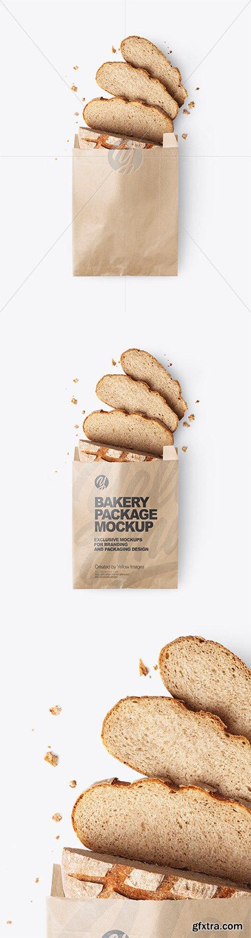 Kraft Paper Bakery Bag Mockup 66104