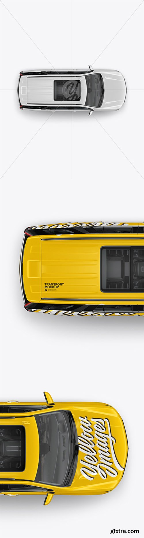 Luxury SUV Mockup - Top View 65932