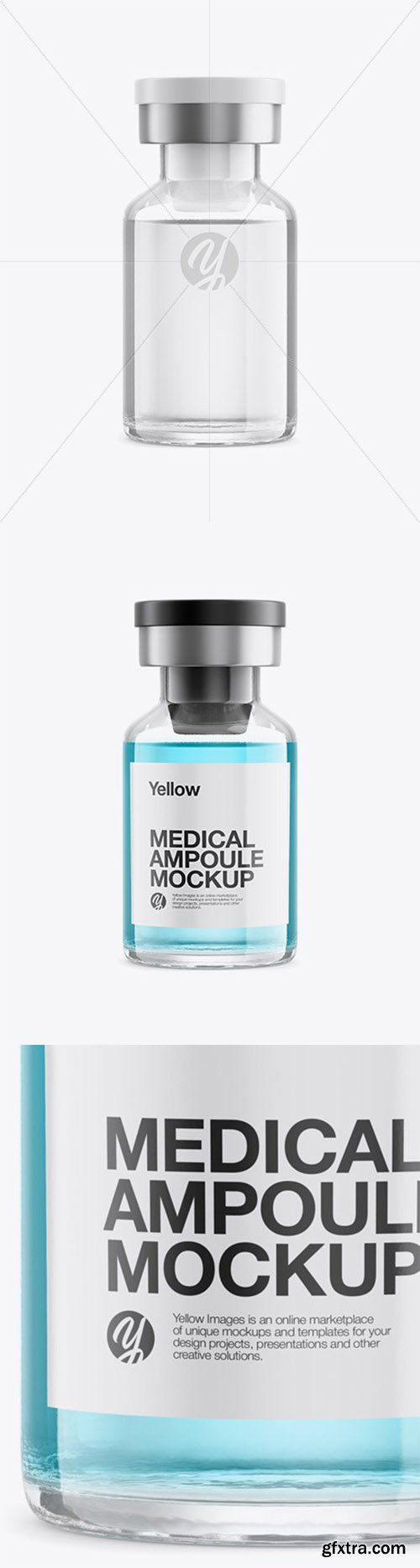 Medical Ampoule Mockup - Front View 65725