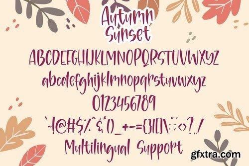 Autumn Sunset - Handwritten Font Duo
