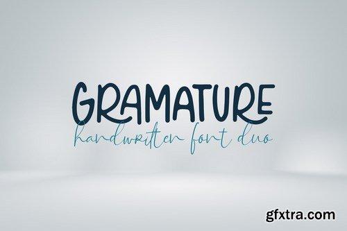 Gramature - Handwritten font duo