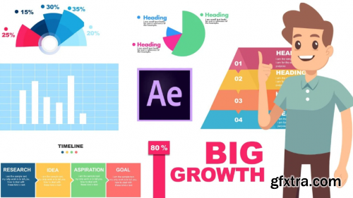 After effects masterclass : learn infographic animations