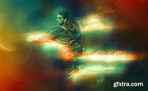 CreativeMarket - Neon Glitch Photoshop Effect 5182912