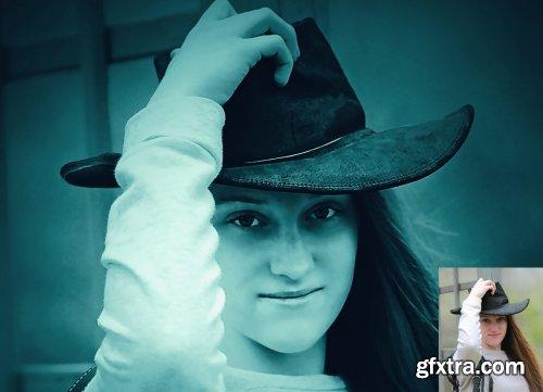 CreativeMarket - Dark Light Effect PS Action 5073998