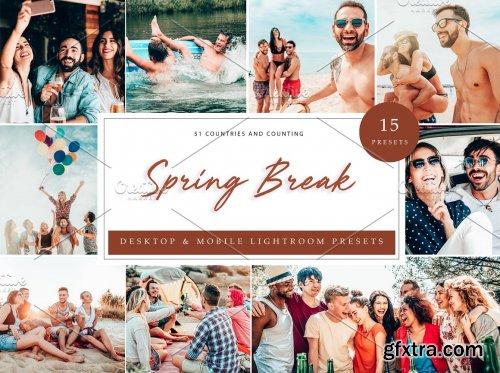 CreativeMarket - 15 x Lightroom Presets Spring Break 5226185