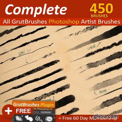 GrutBrushes Art Brushes Complete – 450 Photoshop Brushes