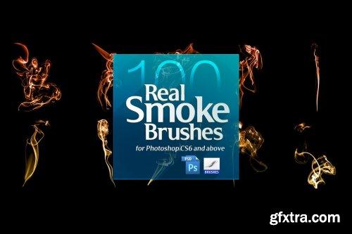 CreativeMarket - 100 Real Smoke Brushes for Photoshop 4904310