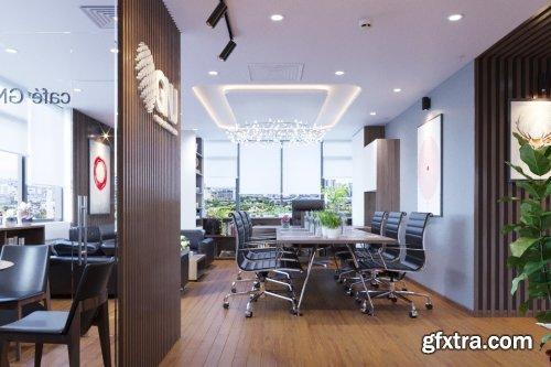 Office Room Scene  By NgoVanHuyen