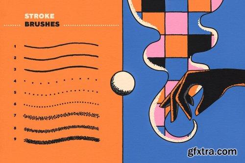 CreativeMarket - Stipple Brushes for Illustrator 5349846