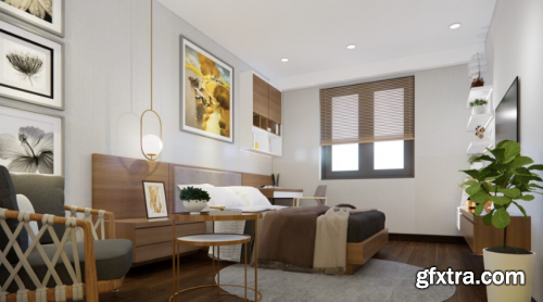 Interior Bedroom Scene Sketchup by TriTrong
