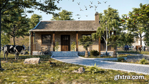 Exterior House Scene Sketchup By NguyenDacBinh