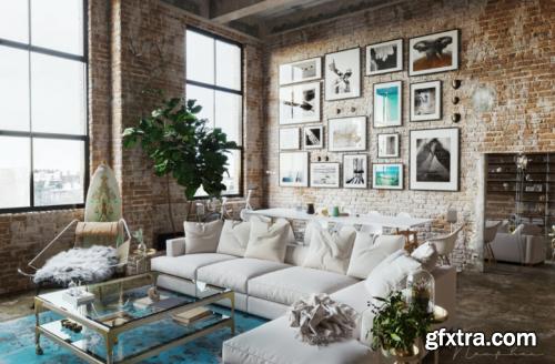 Interior Scene Livingroom By NamPhan