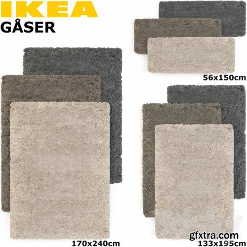 IKEA GASER (GOSER) RUG SET