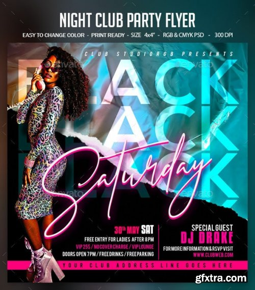 GraphicRiver - Night Club Party Flyer 28450185