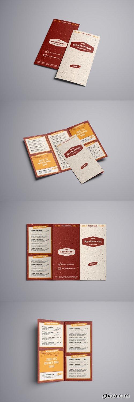 Rustic Food Drink Menu Trifold Layout 377175535