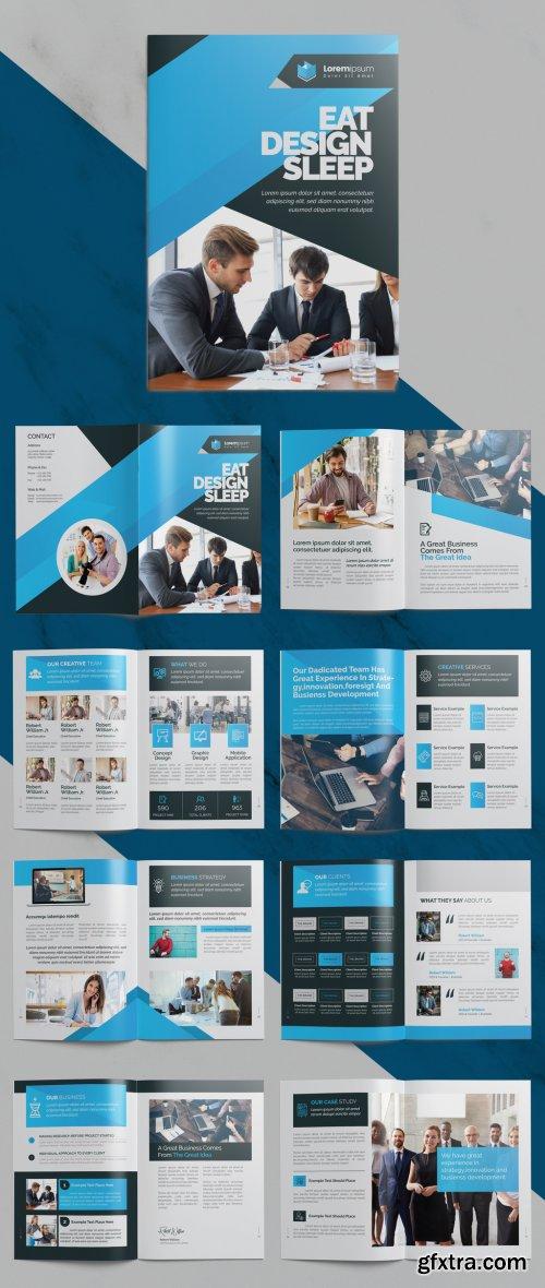 Blue Corporate Bifold Brochure Layout 372723612
