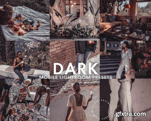 CreativeMarket - 5 DARK MOBILE LIGHTROOM PRESETS 5277258