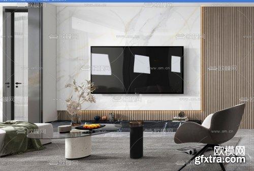 Modern Style Livingroom 452