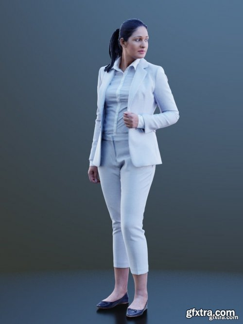 Girl Wearing Suit Scanned 3d model