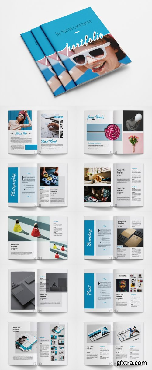 Graphic Design Portfolio Layout 376976107