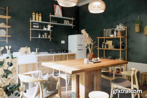 Interior Kitchen Sketchup Scene by DatHouzz