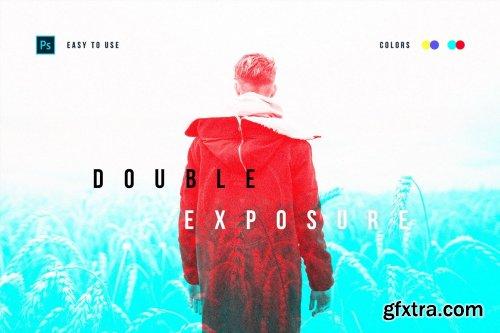 CreativeMarket - Double Color Exposure Photo Effect 5397406