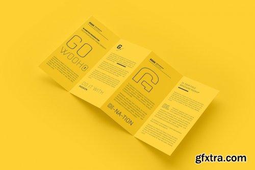 CreativeMarket - DL 4 Fold Brochure Mockup 5307332